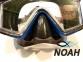 Маска Intex 55982 для плавания и дайвинга с панорамными стеклами (синяя) 3