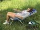 Кресло-шезлонг Ясень d20 мм текстилен сине-жёлтый (7134) 5