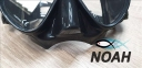 Маска Verus F1 DUO Black для плавания, черная 3
