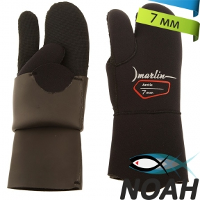 Перчатки Marlin трехпалые Arctic 7 мм