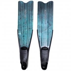 Ласты Marlin Triton для подводной охоты, зеленые