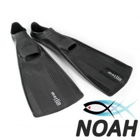 Ласты Marlin Flipper с закрытой пяткой для плавания, цвет черный