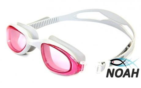 Очки для плавания SS 1201, серо-розовые