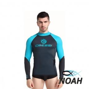 Рашгард Cressi с длинными рукавами для плавания, мужской MAGIC BLUE серый