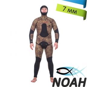 Гидрокостюм Marlin Camoskin Oliva 7мм для подводной охоты