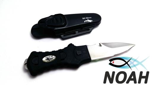 Нож подводный BS Diver Shark Dent (пластиковые ножны)