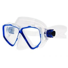 Маска Marlin Fiji прозрачный силикон, синяя