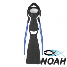 Ласты Aqua Lung Phazer с открытой пяткой ля дайвинга (бело-синие)