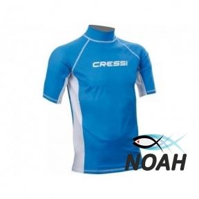 Рашгард Cressi с короткими рукавами для плавания, мужской MAGIC BLUE