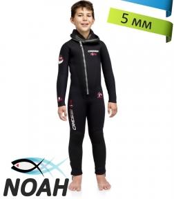 Детский гидрокостюм для дайвинга Cressi DIVER JUNIOR 5 мм (монокостюм)