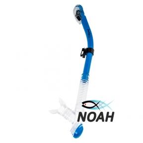 Трубка Marlin Dry Duo для плавания двухклапанная, синяя