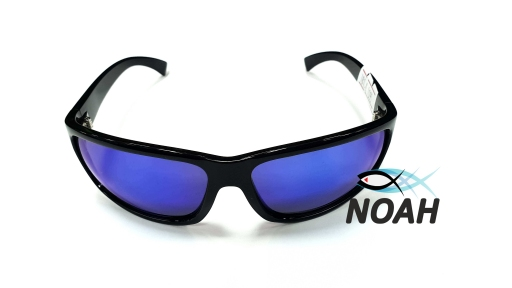 Очки CRESSI солнцезащитные MORFEO SHINY BLACK BLUE MIRRORED (made in Italy),  зеркальные синие