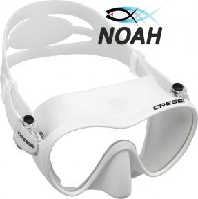 Маска Cressi F1 Frameless White для плавания