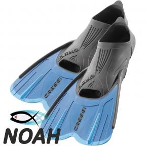 Ласты короткие Cressi Agua Short для бассейна, синие