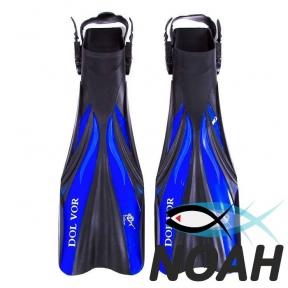 Ласты Dolvor F30 для плавания и дайвинга с открытой пяткой, синие