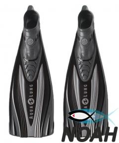 Ласты AquaLung Express с закрытой пяткой (черно-серые)
