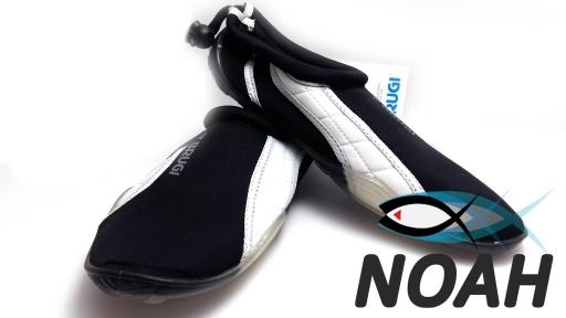 Тапочки для кораллов Brugi Black/white неопреновые с силиконовой подошвой (Аквашузы)
