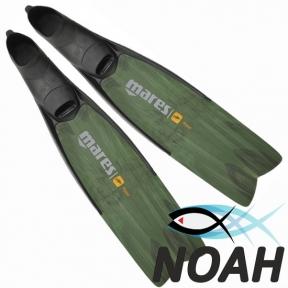 Ласты Mares Razor Pro для подводной охоты, зеленые