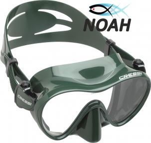 Маска Cressi F1 Frameless Green для плавания