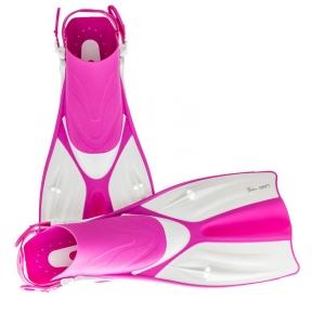 Ласты Marlin Swift Pink, короткие открытая пятка