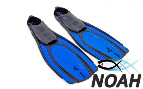 Ласты с закрытой пяткой Zelart ZP-443 для плавания, цвет синий