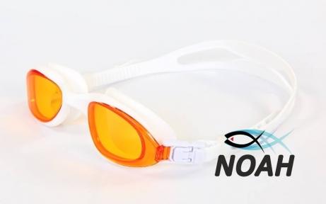 Очки для плавания SS 1201, оранжево-белые