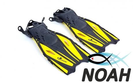 Ласты с открытой пяткой Zelart ZP-451 для плавания, цвет желтый