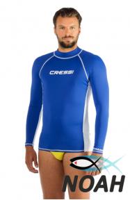 Рашгард Cressi с длинными рукавами для плавания, мужской YACHT BLUE синий