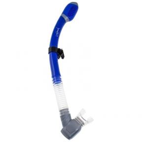 Трубка Marlin Dry Flap синяя, двухклапанная
