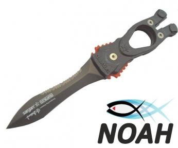 Нож SARGAN Сталкер-Стропорез Z1 с тефлоновым покрытием для подводной охоты