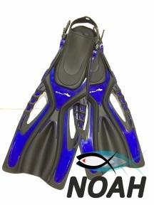 Ласты BS Diver GlideFin для снорклинга с открытой пяткой, синие