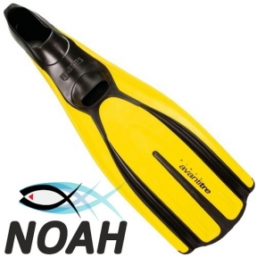 Ласты Mares Avanti Tre для плавания, желтые