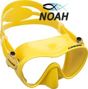 Маска Cressi F1 Frameless Yellow для плавания