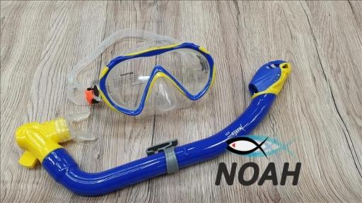 Детский набор Marlin Joy маска и трубка, цвет желто-синий