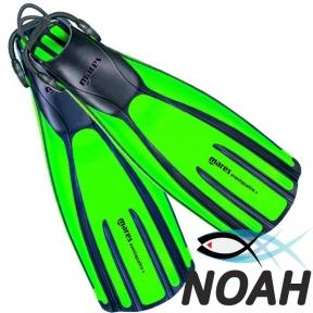Ласты Mares Avanti Quattro + с открытой пяткой для плавания, цвет зеленый