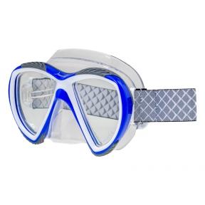 Маска Marlin Accent Blue, прозрачный силикон