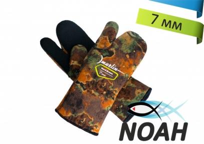 Перчатки Marlin трехпалые Nord Brown 7 мм для подводной охоты