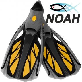 Ласты с закрытой пяткой Zelart ZP-444 для плавания, цвет желтый