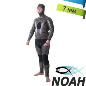 Гидрокостюм Marlin Zeus Camo sandwich 7мм голый для подводной охоты