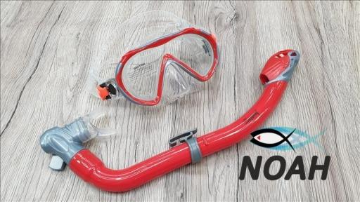 Детский набор Marlin Joy маска и трубка, цвет серо-красный