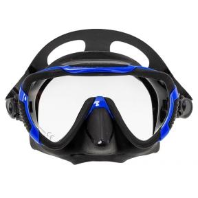 Маска Marlin ENJOY черная с синей рамкой