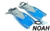 Ласты детские с открытой пяткой Zelart ZP-452 для плавания, цвет синий