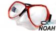 Маска Zelart ZP-M301TSS для плавания, цвет красный