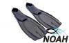 Ласты с закрытой пяткой Zelart ZP-443 для плавания, цвет коричневый