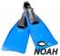 Ласты INTEX с закрытой пяткой для плавания, цвет синий