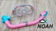 Детский набор Marlin Joy маска и трубка, цвет сине-розовый