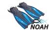 Ласты с открытой пяткой Zelart ZP-451 для плавания,  синий