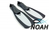 Ласты с закрытой пяткой Zelart ZP-439 для плавания, цвет серый