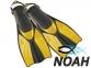 Ласты Verus Dive Expert Yellow с открытой пяткой для дайвинга