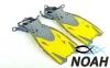 Ласты детские с открытой пяткой Zelart ZP-452 для плавания, цвет желтый